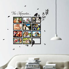 Multi Photo Frame Bird Tree Art Wall Quotes / Wall Stickers / Wall Decals 10-3