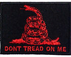 LOT OF 5 - DON'T TREAD ON ME RED EMBROIDERED PATCH