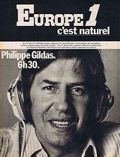 PUBLICITE ADVERTISING 114 1977 EUROPE 1 Philippe Gildas 6h30