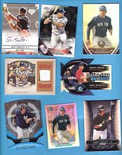 GARY SANCHEZ AUTOGRAPH AUTO + GAME USED JERSEY + ROOKIE CARD + 4 CHROME YANKEES