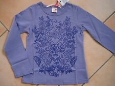 (C160) Nolita Pocket Girls Langarm Shirt in A-Form + Logo & Blumen Druck gr.104