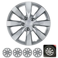 "4 PC Set 16"" Hub Caps Silver Fits 2014 Toyota Corolla Replica Wheel Cover"