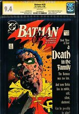 "BATMAN #428 CGC 9.4 SS Signed by JIM STARLIN! ""A Death In The Family"" Part 3"