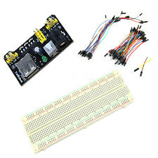 MB102 Power Supply Module 3.3V 5V+Breadboard Board 830 Point+65 Jumper cable