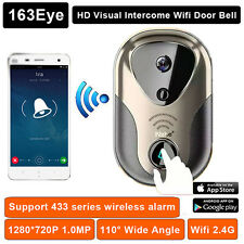 Wireless WiFi Doorbell Intercom Camera Remote IR Night Vision HD Door Camera