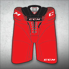 "New CCM Crazy Light U+ CL ice hockey pants senior sr XLarge XL red waist 38""-42"""