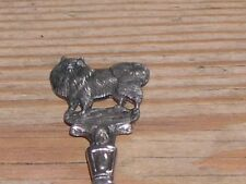 RARE ANTIQUE LARGE SOLID SILVER POMERANIAN DOG SPOON 1910 N OF E POM CLUB NR. 2