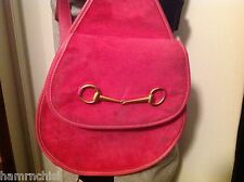 HOT PINK Leather GUCCI One Shoulder SLING Bag