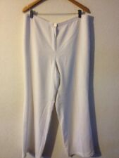 Basler Ladies Smart Trousers Size 18 White Lined  R11531