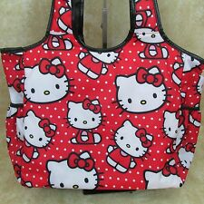 Hello Kitty Large Tote Diaper Bag Laptop Tablet Red White Loungefly Sanrio New
