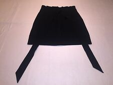 *BCBG Max Azria A-Line Skirt with tie belt Sz 08 lined Black