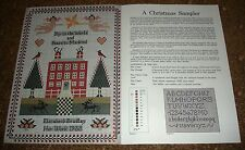 GENUINE ELIZABETH BRADLEY NEEDLEWORK SAMPLER CROSS STITCH LIMITED EDITION 1988