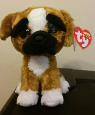"Ty Beanie Boos ~ BRUTUS the 6"" Boxer Dog ~ 2015 NEW Stuffed Animal Toy ~ IN HAND"