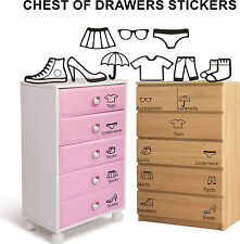 Wardrobe Drawers Storage Stickers Black Pink Sort Creative Home Organiser Decor