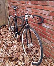 SEAMUS MURPHY 50CM MATTE BLACK AND WHITE FIXED GEAR TRACK BIKE - SHIPS FREE USA