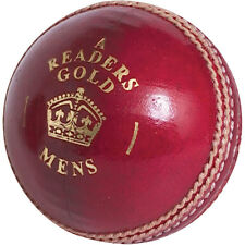 Readers Gold 'A' Mens Leather Red Cricket Ball Size 5.5oz