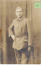 Soldat allemand guerre 14-18 photo sur CPA lot 61
