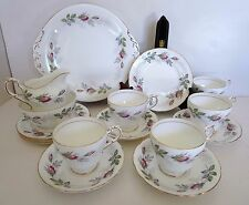 PARAGON BRIDAL ROSE 16 pc Lot Tea Cup Saucer Creamer Cake Plate Fine Bone China