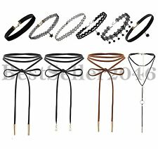 10PCS Retro Gothic Punk Womens Velvet Lace Choker Collar Pendant Tattoo Necklace