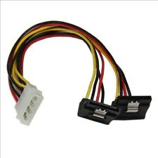 StarTech.com 12 inch LP4 to 2x Right Angle Latching SATA Power Y Cable Splitter