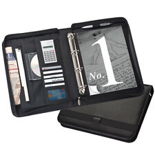 A4 EXECUTIVE CONFERENCE FOLDER ZIPPED + CALCULATOR NOTEPAD 4D RING BINDER 7907