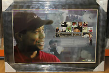 TIGER WOODS HAND SIGNED L/ED LITHOGRAPH DRIVING FRCE FRAMED + COA