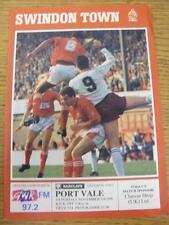 03/11/1990 Swindon Town V PORT VALE modifiche DEL TEAM ()