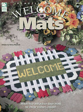 Welcome Mats Rugs ~ Snowman Easter Fish Cabin & More plastic canvas patterns
