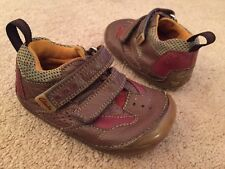 Baby Boys Clarks First Shoes Leather Shoes Brown Uk Infant Size 4 G VGC !