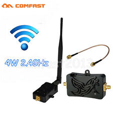 4W Wireless WiFi Signal Power Amplifier Repeater Router Broadband Range Extender