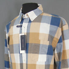 Tommy Hilfiger NWT Men's Long Sleeve Shirt Size Medium- Custom Fit - Plaid -65R