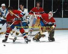 KEN DRYDEN In ACTION w/Current & Former HABS Larose Berenson 8x10 CANADIENS HOF