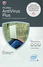 New McAfee AntiVirus Plus 2017 , 3 PCs 1 Year , Fast delivery