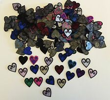 50x Small organza hearts appliques/motifs Iron on or sew on craft