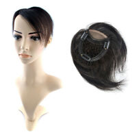 Mesh Breathable Human Hair Topper Piece Closures Clip in Hair extensions
