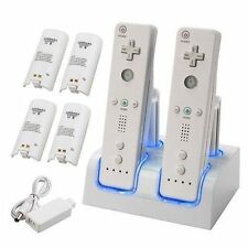 DUAL/TWIN CHARGING AND DOCKING STATION FOR WII REMOTES WITH 4 BATTERY PACKS