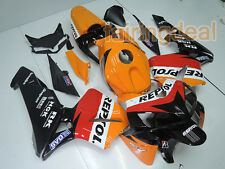 ABS Injection Red Orange Black Fairing Fit for HONDA CBR 600RR 2005 2006 F5 d73