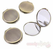 60mm Bronze Mirror Compact Blank Engraving, Decoden, Embellishment DIY Crafts