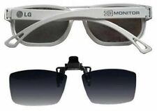 NEW ORIGINAL LG 3D GLASSES FPG-200F  MONITOR GLASSES (WHITE) WITH LENS CLIP