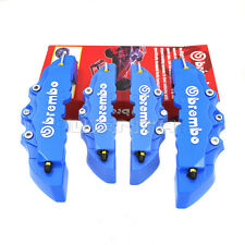 4pcs Blue 3D Brembo Style Front & Rear Universal Car Disc Brake Caliper Covers