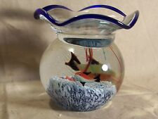 Glass Fish Bowl Aquarium Art Glass Great Condition Murano? Large Paper Weight?