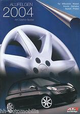 Prospekt ATU Alufelgen 2004 für Mitsubishi Nissan Honda Daihatsu Suzuki Proton