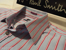 """PAUL SMITH Mens Shirt�� Size 16.5"""" (CHEST 46"""")�� RRP £95+�� SUPERBLY STRIPED"""