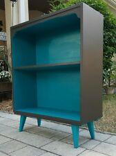 Vtg Mid Century Modern Eames Era Bookcase Retro Danish Point Legs Shelf Credenza