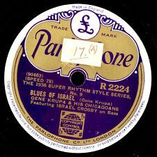 GENE KRUPA & ORCH. Blues of Israel / Three Little Words    Schellackplatte X2553
