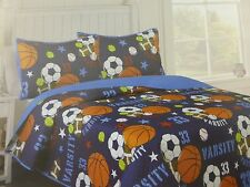 2 pc Cozee Quilts Sports Twin Quilt & Sham Set NIP