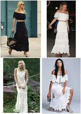 $395 NIGHTCAP HIGH WAIST SPANISH LACE MAXI SKIRT