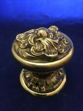 Set of Rare Vintage Heavy Solid Brass Door Knobs / Plates With Spindle/Stem