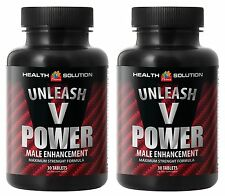 Unleash V Power Male Enhancement. Erection and Optimizes Sexual Health(2 Bottle)