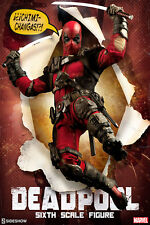 "Sideshow Marvel Comics DEADPOOL 12"" Action Figure 1/6 Scale X-Men X-Force"